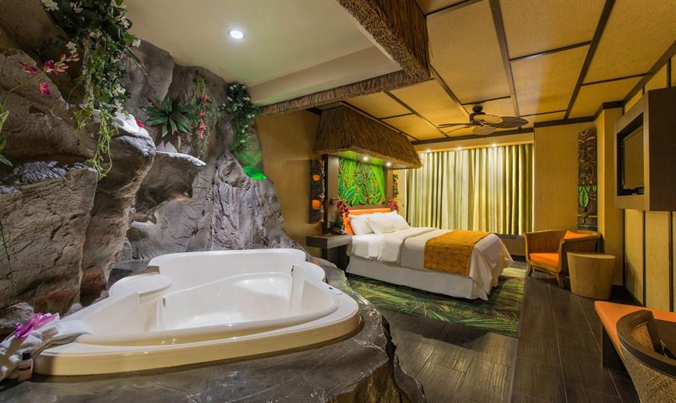 Modern polynesian theme fantasyland hotel