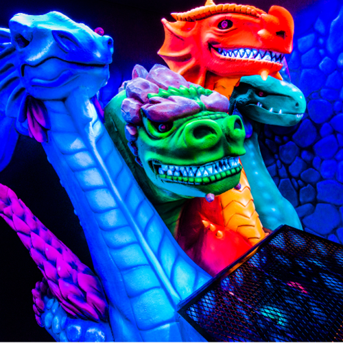 Dragon's Tale Blacklight Mini-Golf & Crystal Labyrinth Mirror Maze
